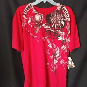 Xtreme Couture Red Spade Tee Truth Valor Shirt